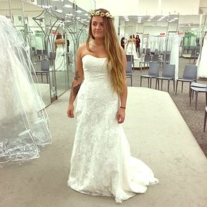Jewel Wedding Dress | Lace A-Line with Beading